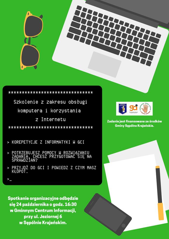 Szkolenie z zakresu obsługi komputera i korzystania z Internetu